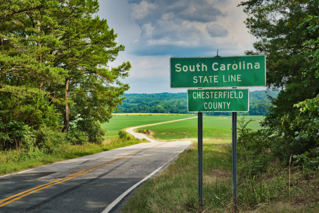 Picture of the South Carolina State Border
